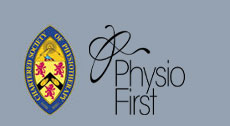 Chartered Society of Physiotherapy and Physio First logos